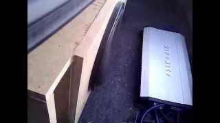 "2400 Watt Ascendant Audio Mayhem 12"" vs. 97 Nissan Altima. - Hifonics Brutus 2400x1ohm"