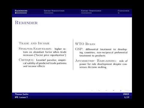 7/12 International Political Economy -  Trade and development