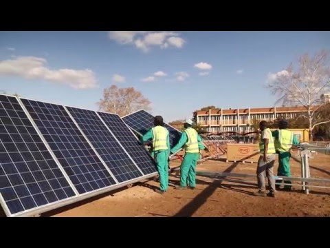 Solar energy plant for research on distributed energy generation; reduced carbon footprint -Xitsonga