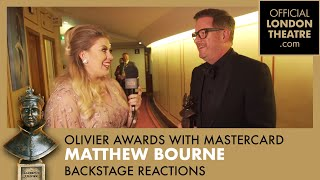 Special Award - Olivier Awards with Mastercard - Backstage Reactions with Louise Pentland