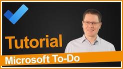 Microsoft To-Do Tutorial 2020