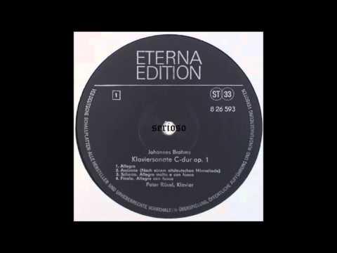 Brahms, Piano Sonata No 1, Peter Rosel, piano
