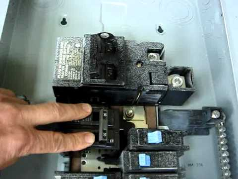 circuit breaker panel problem arcing between busbar and breaker rh youtube com White Breaker Box Old Breaker Box