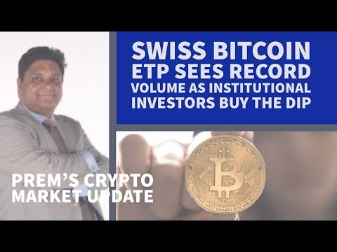 Swiss Bitcoin ETP sees record volume as institutional investors buy the dip
