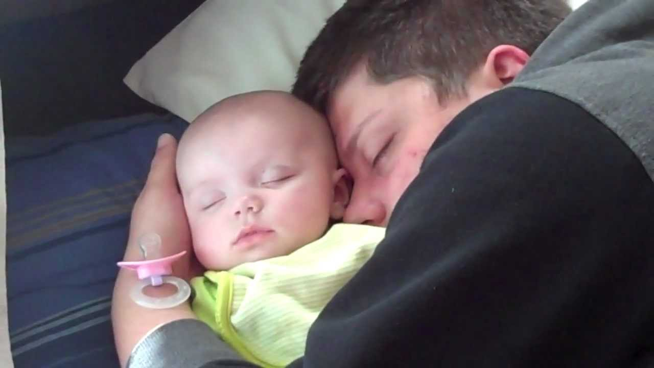 New Mom New Dad And Newborn Baby Asleep Youtube