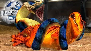 T-REX And TITANOBOA - Which Creature Will Win? Jurassic World The Game