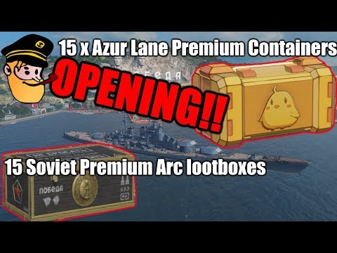 Container Opening: Soviet Premium Arc / Azur Lane Premium || World of Warships
