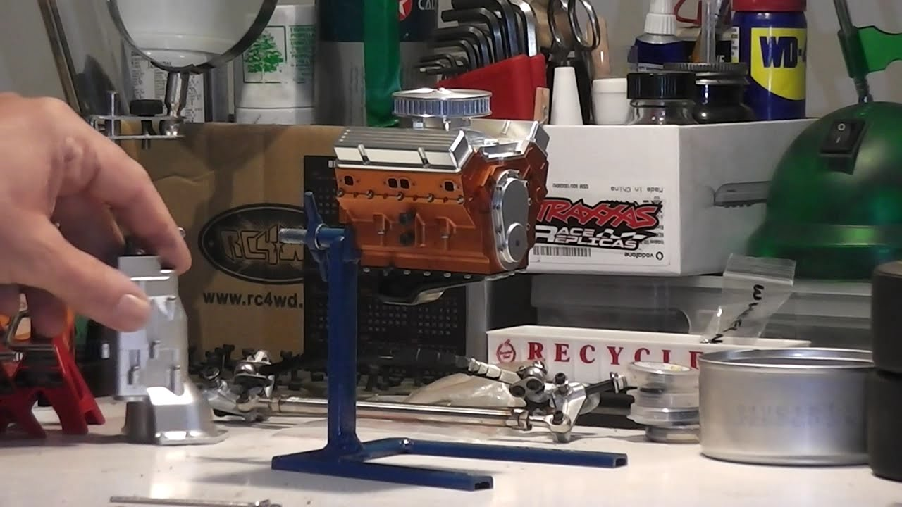 Making A Scale Workshop Engine Stand Rc Model Youtube