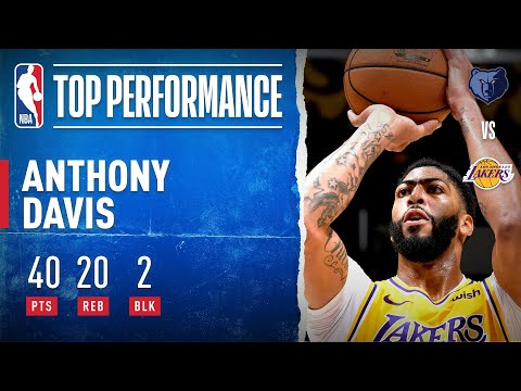 Anthony Davis goes for 40 PTS and 20 REB in THREE QUARTERS!