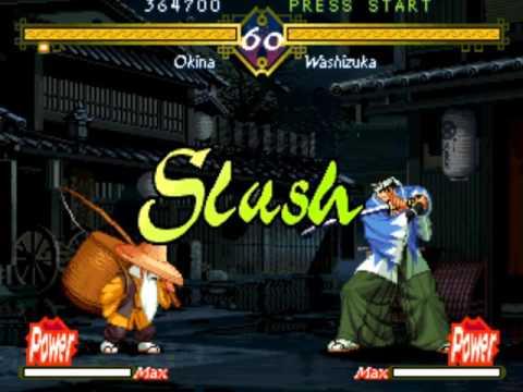 The Last Blade (Arcade/Neo Geo MVS) Playthrough as Okina