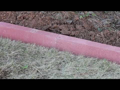 How to Install Masonry Landscape Edging Landscaping Basics YouTube