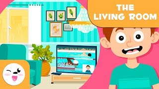 Learning the Living Room - Vocabulary for kids - New words