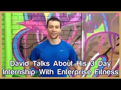 David Testimonial from Enterprise Fitness Internship