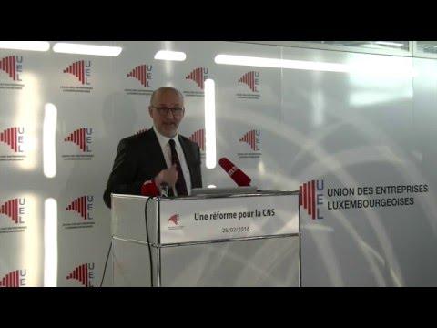Conférence de presse - Pour une réforme de la CNS - 25 février 2016