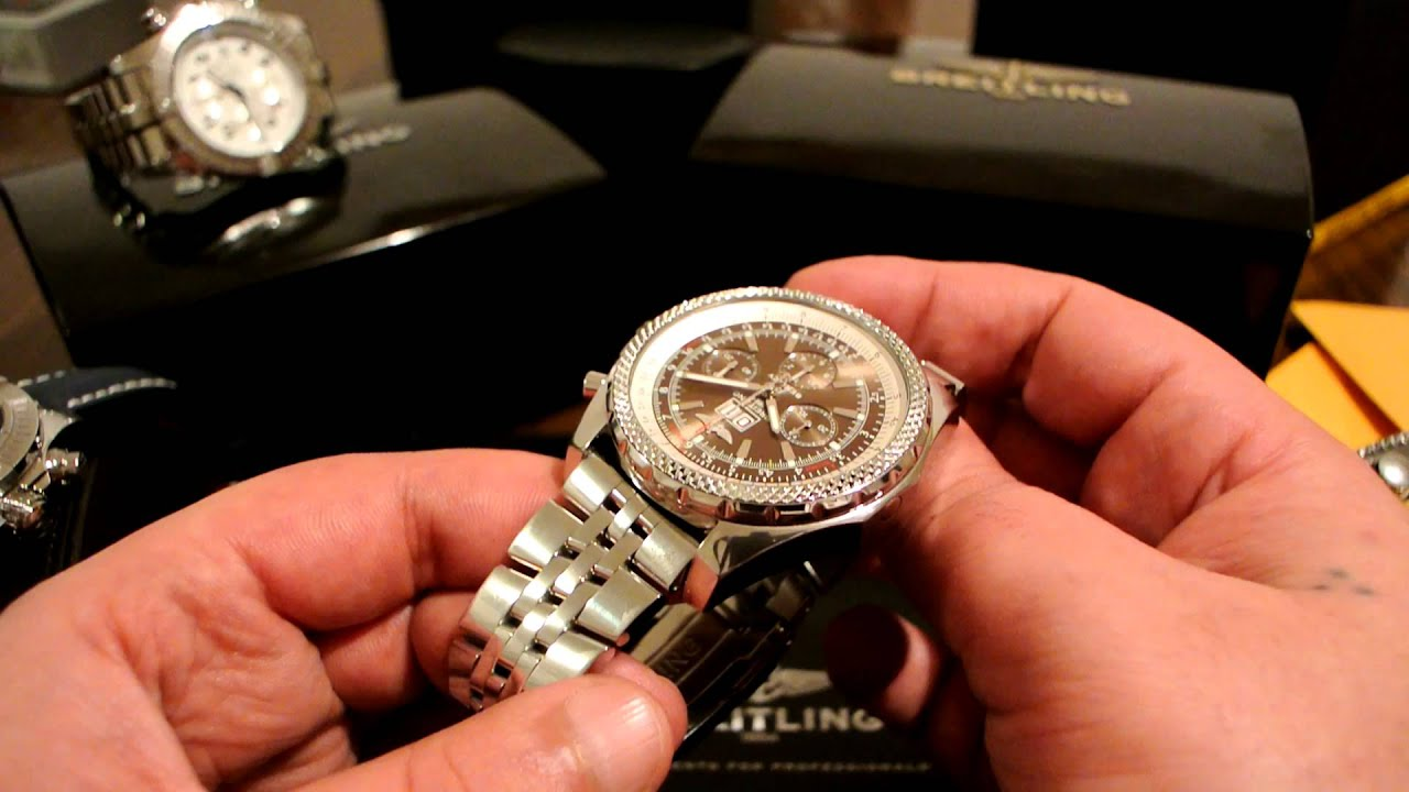 Breitling For Bentley 6 75 Speed Youtube