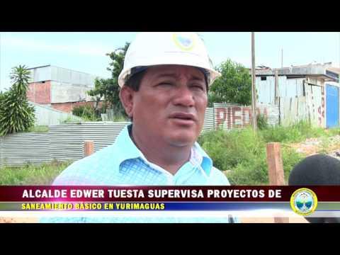 ALCALDE EDWER TUESTA SUPERVISA PROYECTOS DE SANEAMIENTO BÁSICO EN YGS.