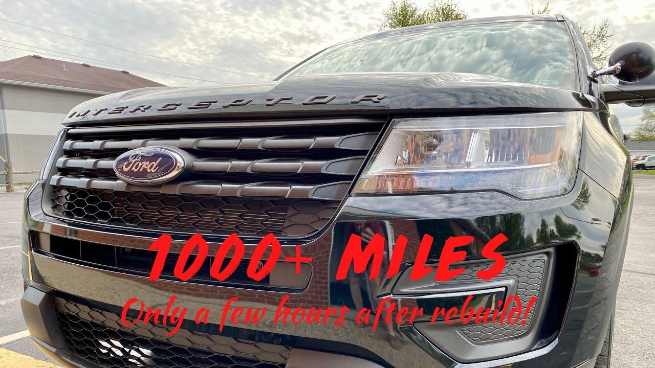 Download 1000+ mile road trip just hours after rebuild! ~ 2017 Police Interceptor Utility Rebuild -- Part 14