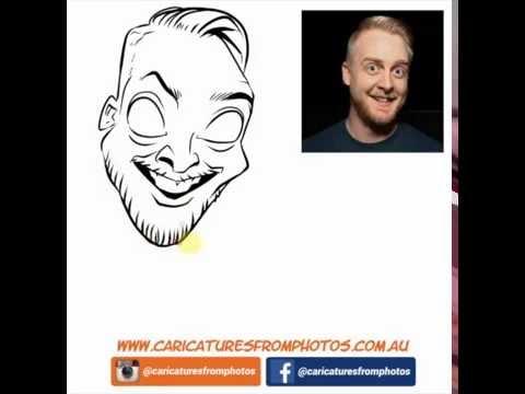 FREE Digital Caricature Sketch Perth - 01