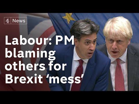 Boris Johnson accuses EU of negotiating with 'revolver on table'