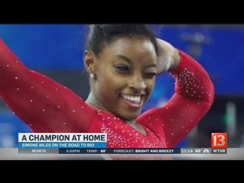 Simone Biles at home