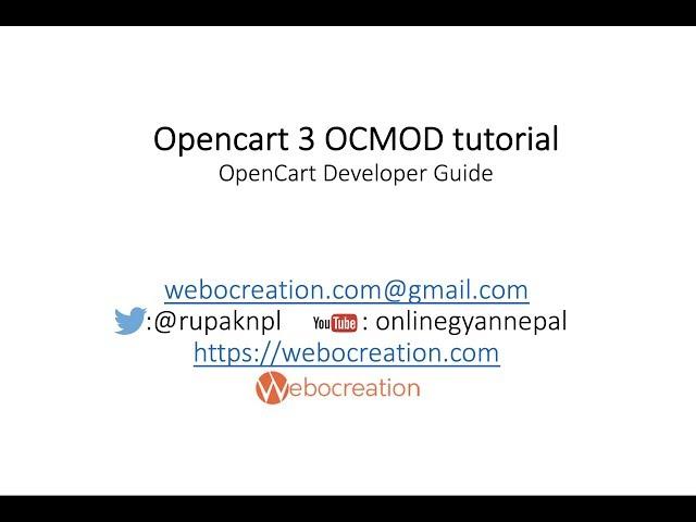 Opencart 3 OCMOD tutorial
