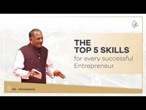 IIM Ahmedabad Lecture Aug. 2015 - Entrepreneurship Skills
