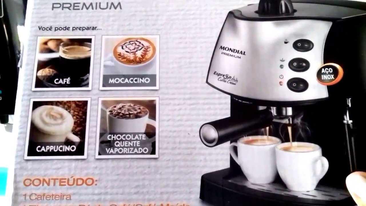 f4861ffc3 Cafeteira Mondial 15bar - Espresso Coffee Cream - YouTube