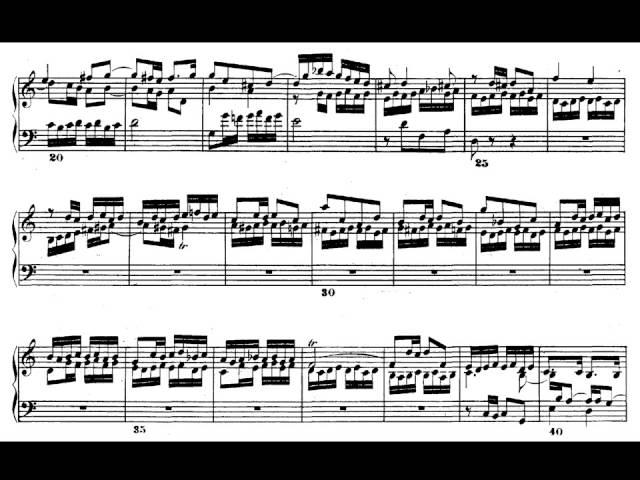 J.S.Bach. El clave bien temperado II. Fuga nº 1 en do mayor BWV 870