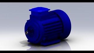 Электродвигатель АИР71 B2 1,1кВт. 3D-модель.