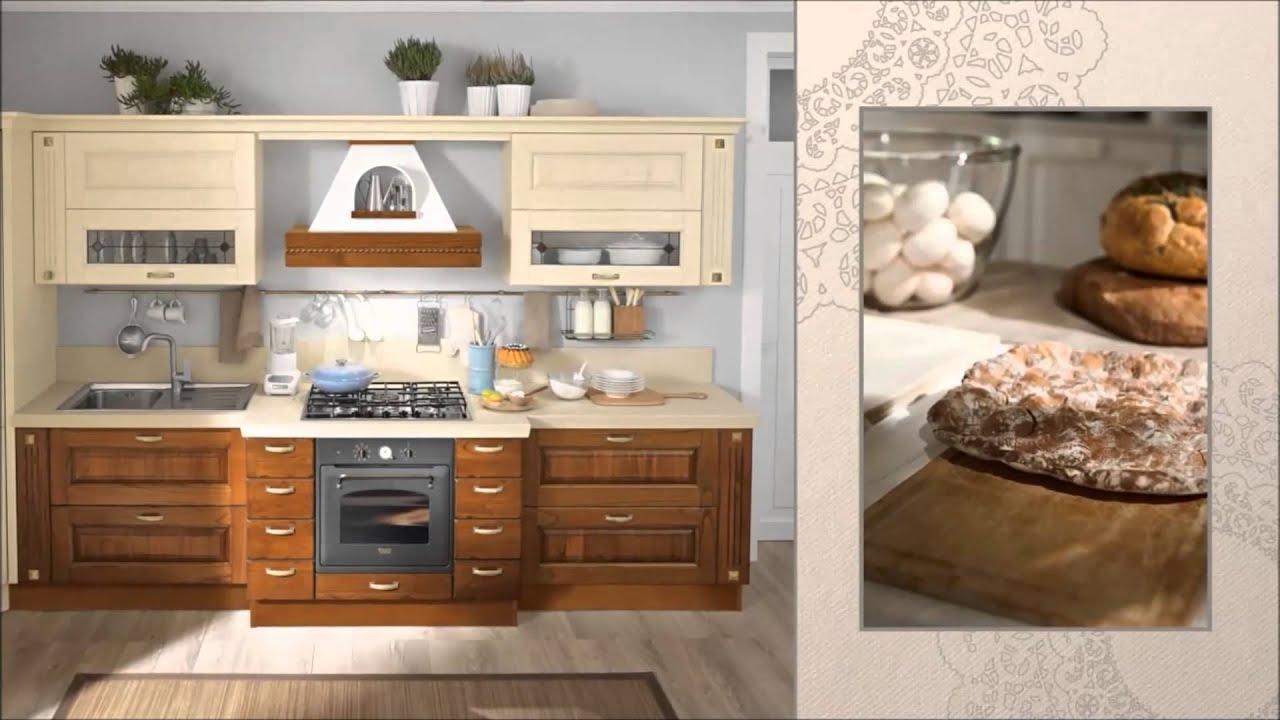 Cucina Classica Mod. LAURA  Cucine LUBE Torino - YouTube