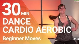 30 Min. Dance Cardio Aerobic Workout for Beginner - Loose weight with fun.