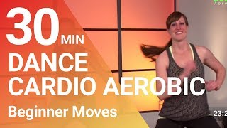 30 Min. Cardio Dance Aerobic Workout for Beginner - Loose weight with fun!