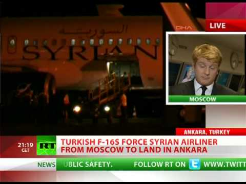 Turkish F-16s intercept Syrian jet from Moscow over 'suspicious cargo'