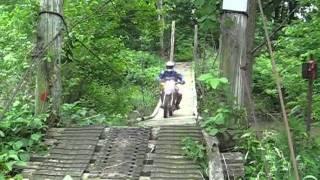 Suspension Bridge On Brush Popper's Dual Sport Ride 2011