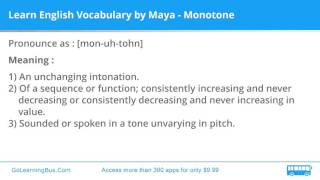Learn English Vocabulary by Maya - Monotone
