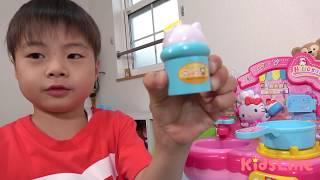 Hello Kitty キティちゃんキッチン 電子レンジ お料理するぞ!! こうくんねみちゃん Kitchen Toy