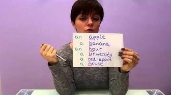 Nadja erklärt: a oder an - Englische Grammatik auf Deutsch