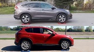 Honda CR-V Real Time AWD vs Mazda CX-5 i-Activ AWD - 4x4 test on rollers