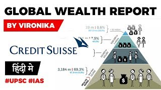 Global Wealth Report by Credit Suisse, Top 1% own nearly 50% of Global Wealth, Current Affairs 2019