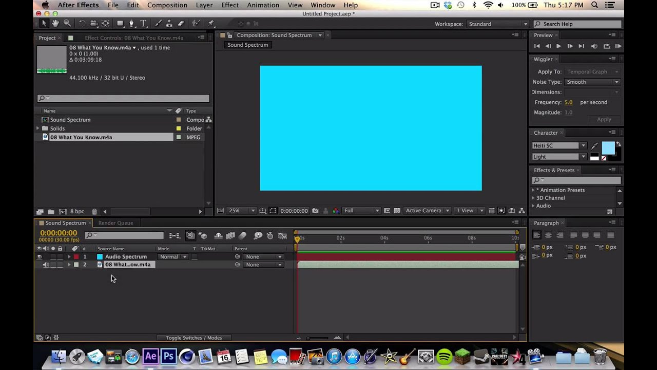 how to create audio spectrum after effects