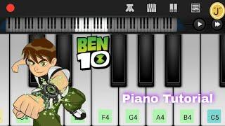 Ben 10 Theme Song | Easy Mobile Piano Tutorial