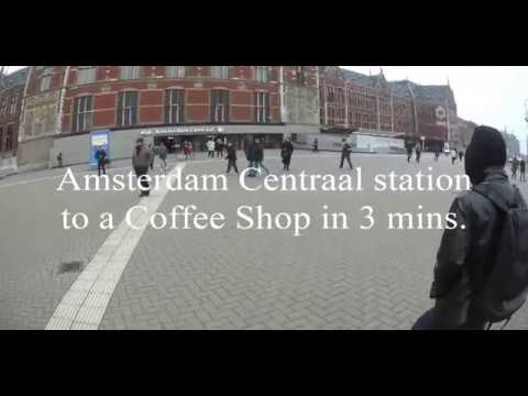 We made a 3 min video to help us get from Amsterdam Centraal station to a coffee shop.