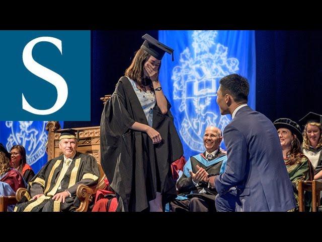 Student Proposes At University Of Southampton Graduation Ceremony Youtube