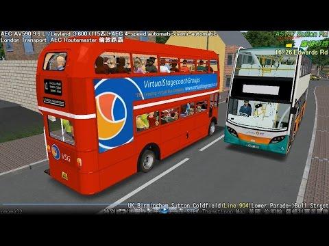 Omsi 2 tour (506) UK NXWM 904 Birmingham - Sutton Coldfield @ London Transport AEC Route master