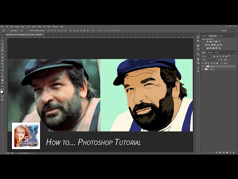 How to create CARTOON ART in Photoshop? Bud Spencer - Carlo Pedersoli PS