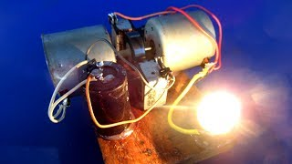 Make a Free energy light bulb with Running Motor device - Science DIY at School 2018
