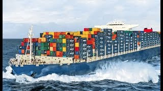 Biggest Container Ships In Storm! Huge Rogue Waves