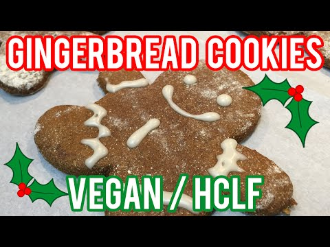 Gingerbread Cookies | VEGAN | HCLF