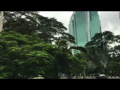 Driving thru downtown Jakarta, Indonesia