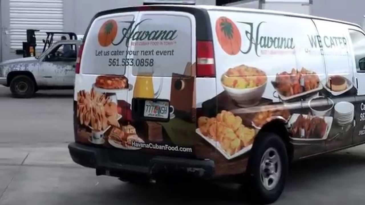Chevy Van Vehicle Wrap Miami Florida For Havana Cuban Restaurant